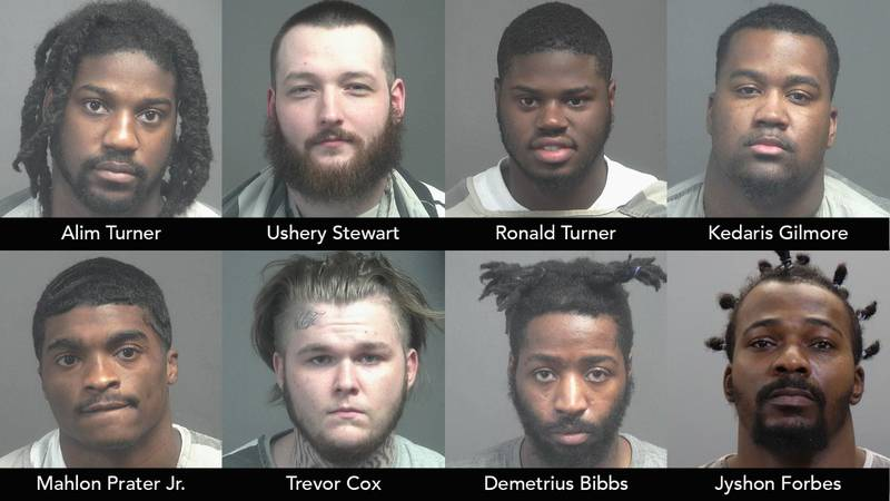 Alim Turner, 23, Ushery Stewart, 22, Ronald Turner, 25, Kedaris Gilmore, 23, Mahlon Prater Jr.,...