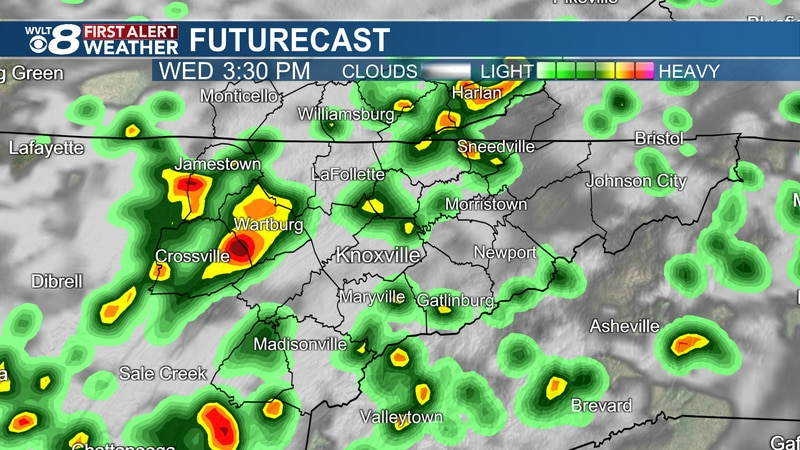 Showers and storms continue today