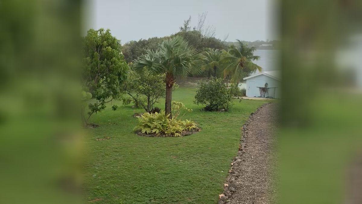 This is video taken in Green Turtle Cay sent by Joann Coakley.