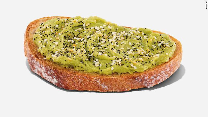 Dunkin' is now selling avocado toast for $2.99