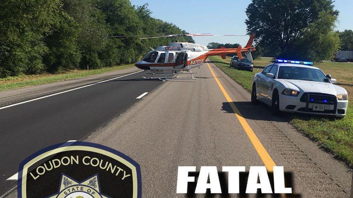Fatal crash shuts down I-75 S mm 67 in Loudon Co.