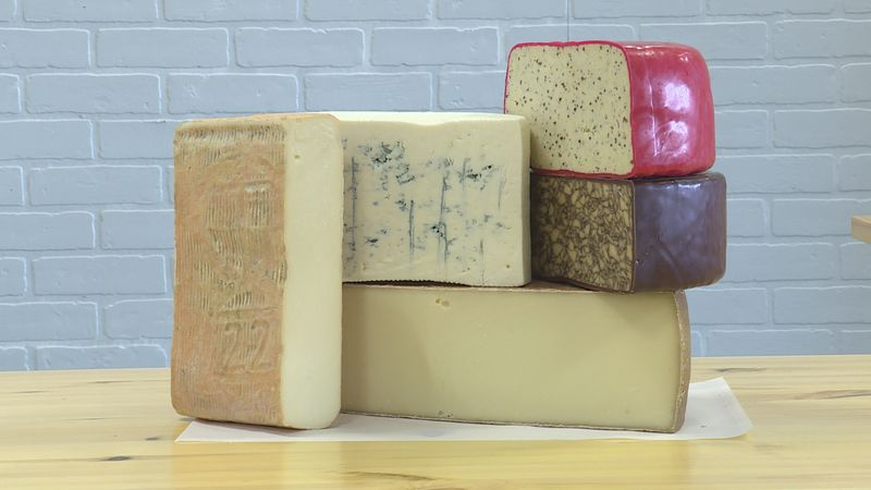 Various types of cheese at Euphoric Cheese Shop