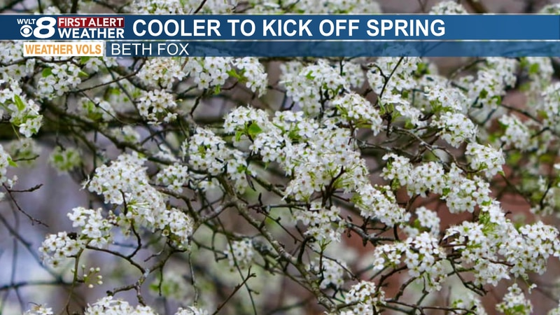 Spring kicks off with a chilly but sunshine returns this weekend.