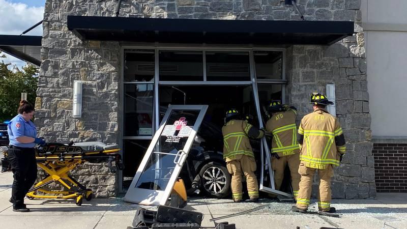 Car crashes into urgent care