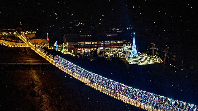 Gatlinburg SkyLift Park Christmas Lights