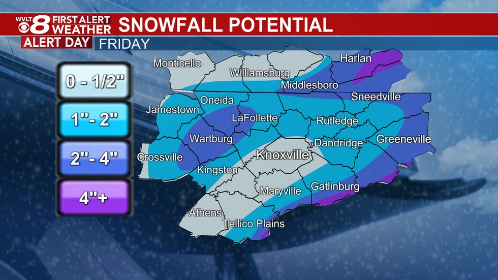 From the WVLT Weather Center, custom made for your neighborhood