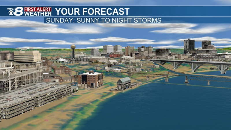 Cold front arrives later Sunday night