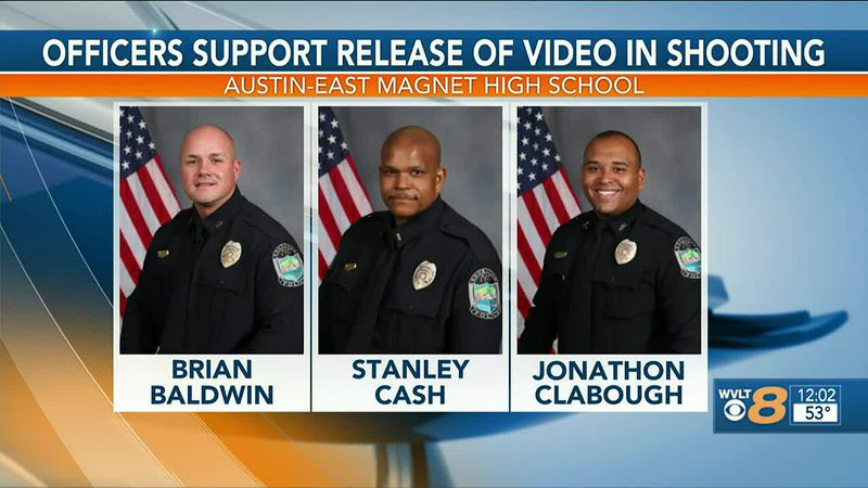 Three of the four officers involved in the shooting incident at Austin-East High School have...