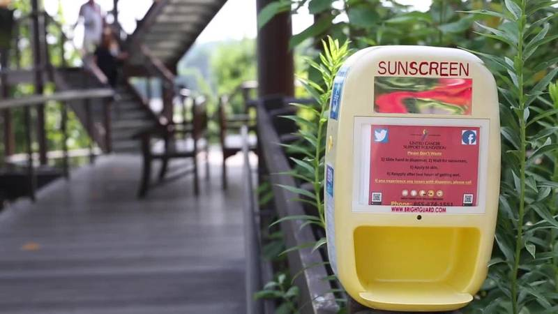 Zoo Knoxville installs touchless sunscreen dispensers