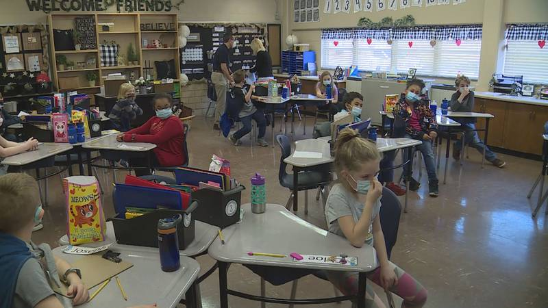Students learn at South Knoxville Elementary
