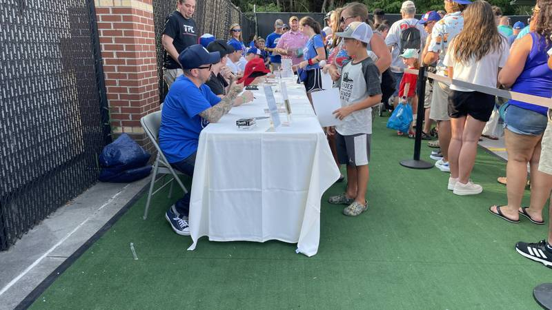 Five members of the original cast of The Sandlot made an appearance at the Smokies Game.