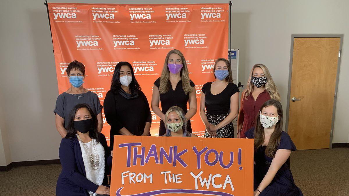 WVLT News Anchor Brittany Tarwater emceed the YWCA Keys of Hope fundraiser Thursday morning.