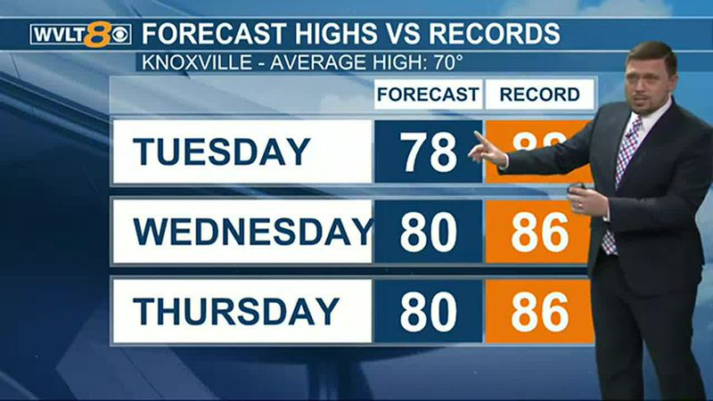 Temperatures will be well above average through Thursday.