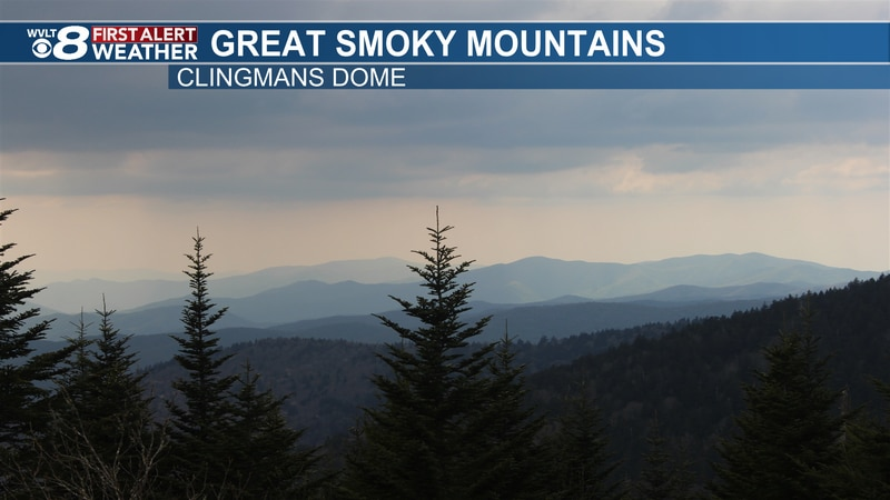This is the scene from the Clingmans Dome air quality webcam. This is where air pollution is...