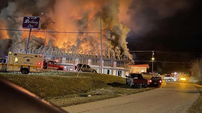 A fire broke out at a local hotel in Jellico Tuesday night.