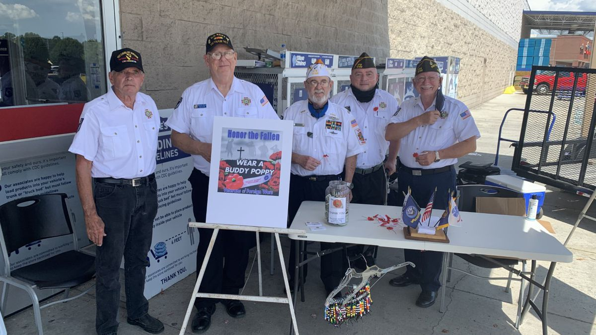 """The Veterans of Foreign Wars in Sevierville spent their Saturday spreading their message of the """"Buddy Poppy to honor the fallen."""