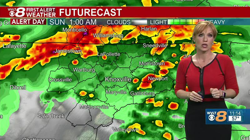 Chief Meteorologist Heather Haley tracks storms through early Sunday