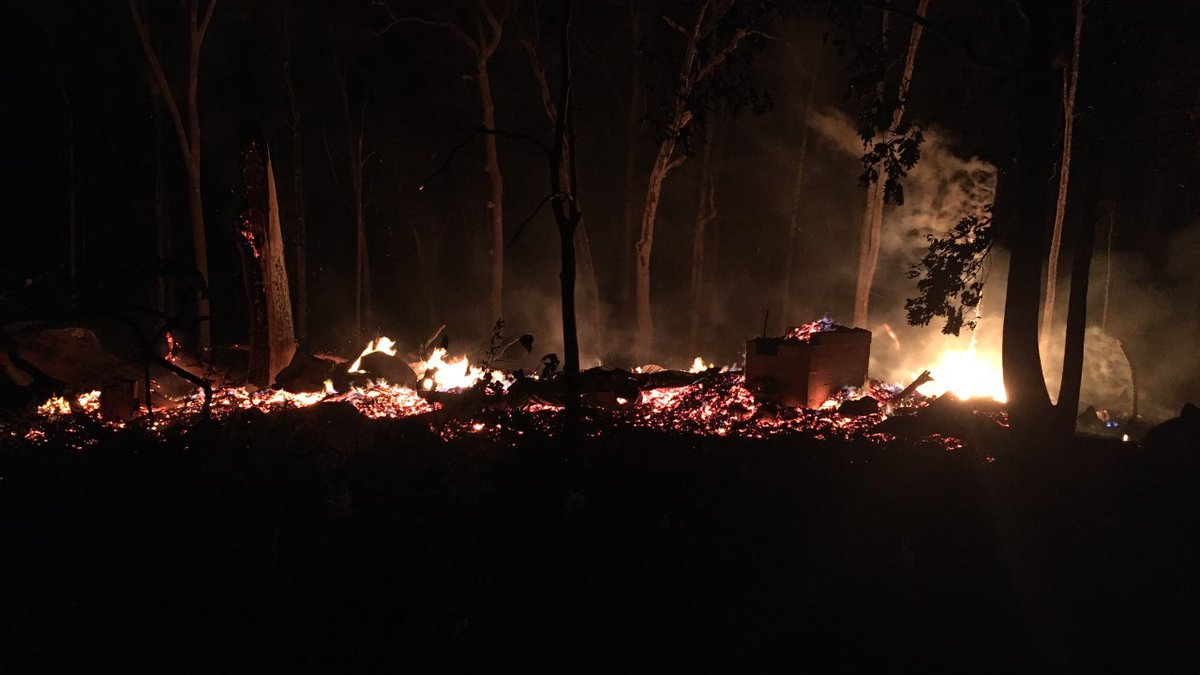 Minister's Tree House burned to the ground Tuesday night./(WVLT)
