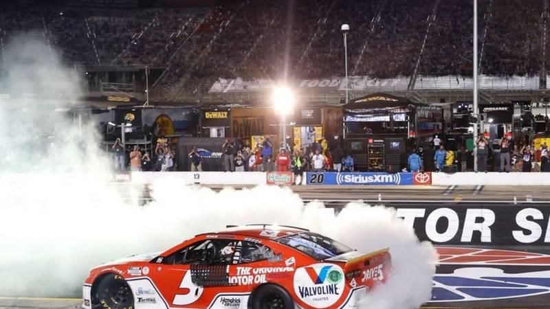 Wins night race at Bristol Motor Speedway
