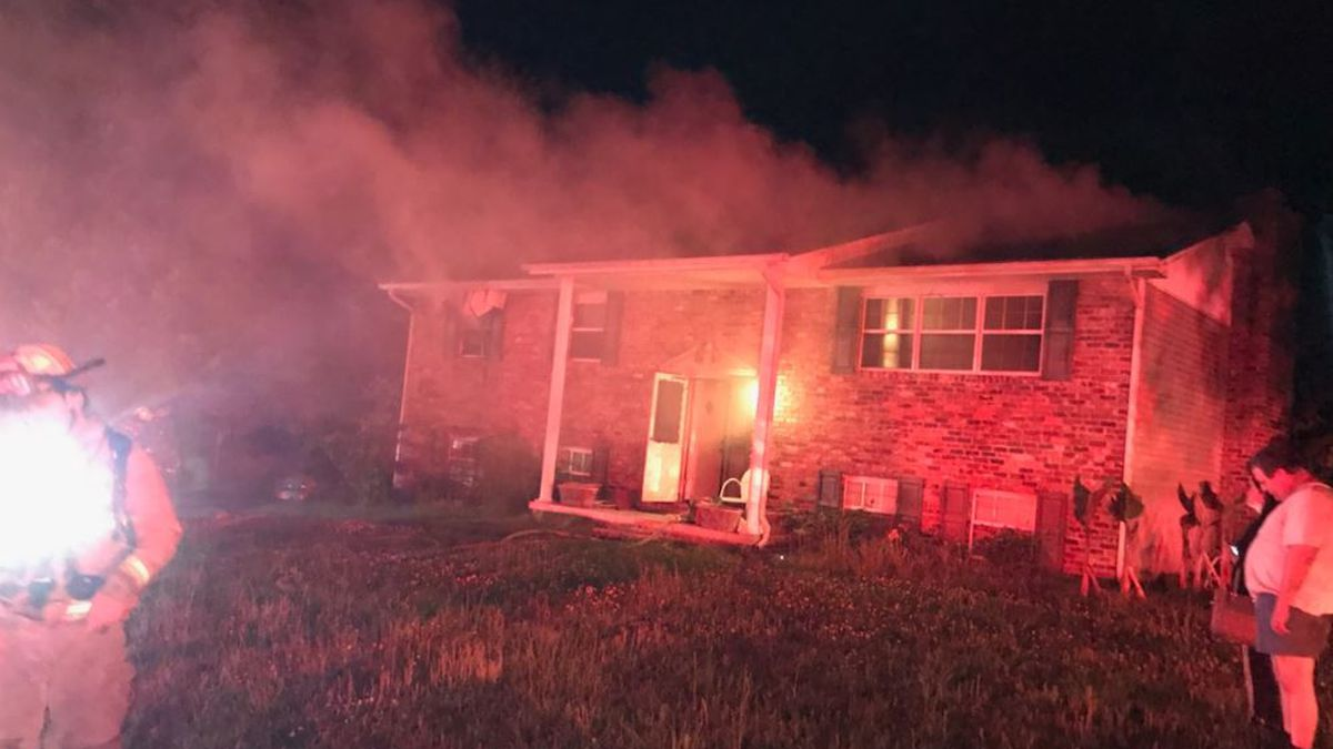 Fire at a home on Midhurst Drive / Source: Rural Metro