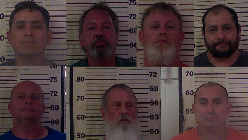Officials with the Tennessee Bureau of Investigation said seven men were arrested and accused...