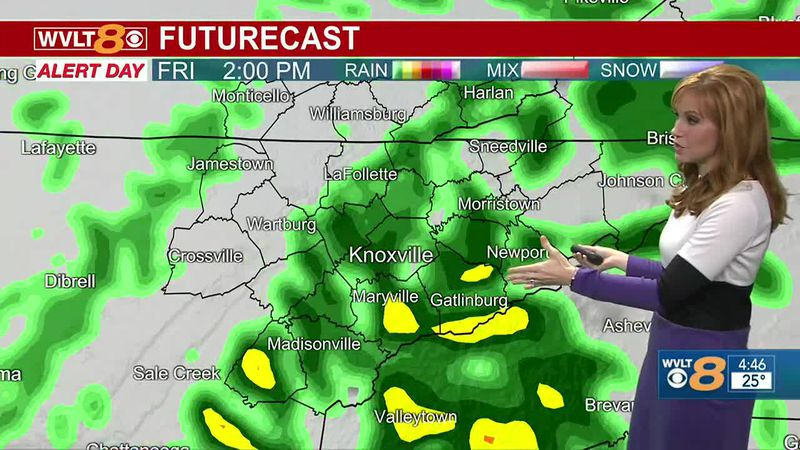 Moderate to heavy rain impacts commuters Friday