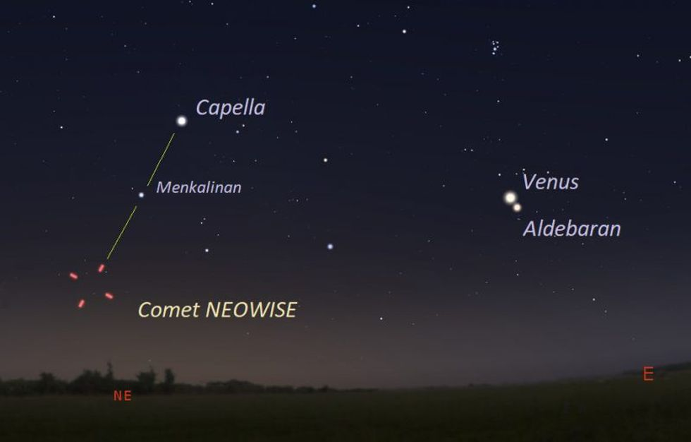 July 11, 2020 facing northeast about 45 to 60 minutes before sunrise. This is about the last...