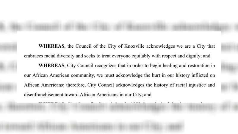 Knoxville Vice Mayor Gwen McKenzie released the final draft of a city resolution that asks the...