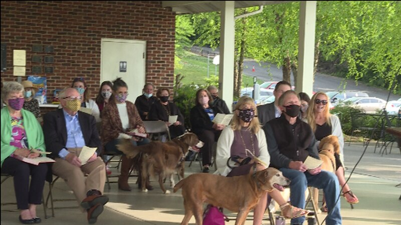 The congregation of First United Methodist Church attending the Blessing of the Pets Sunday...