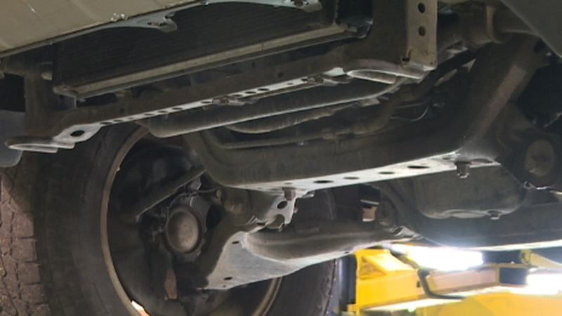Knoxville mechanic says they're seeing more cars come to the shop with missing converters