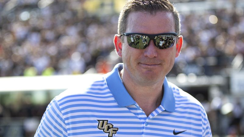 FILE - In this Nov. 2, 2019, file photo, Central Florida athletic director Danny White stands...