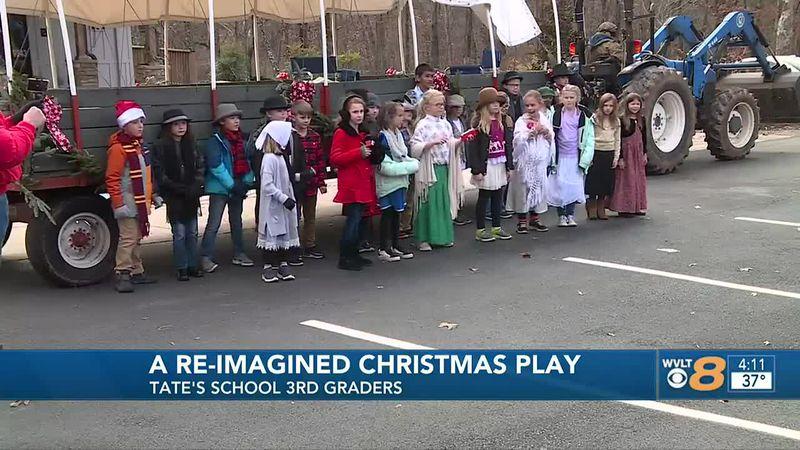 Tate's School Christmas caroling