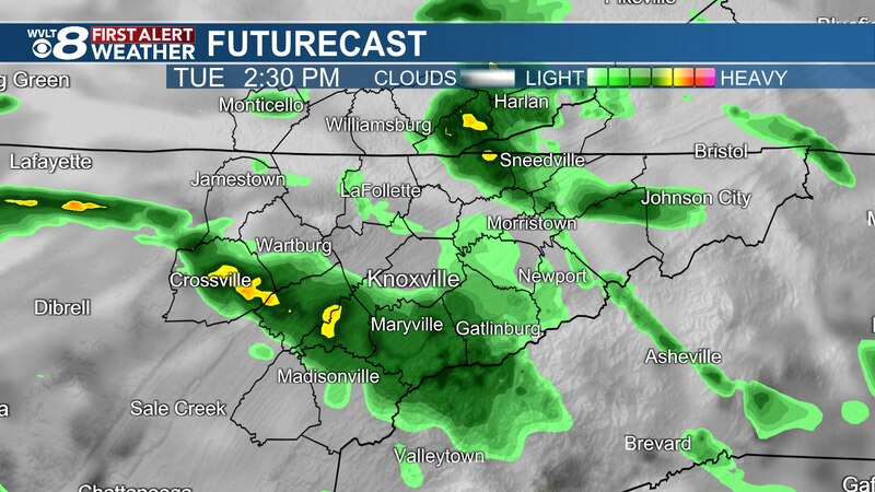 Tracking showers to more rain ahead on WVLT News.