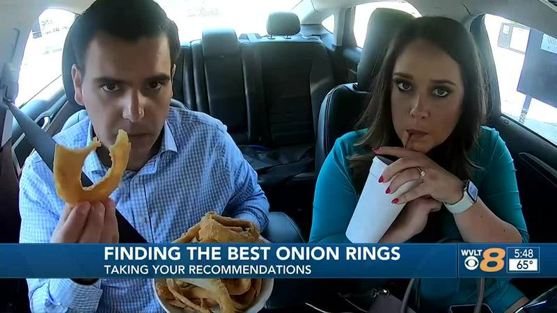 We asked, you answered. Harry and Casey head to Pizza Palace to try their famous onion rings.