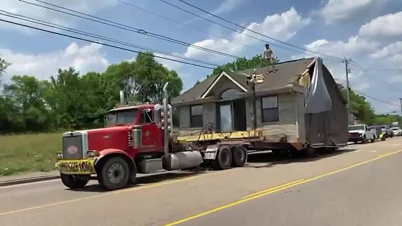 Man rides house