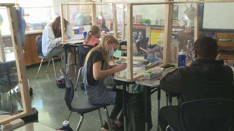 Knox County Schools students wear masks in the classroom