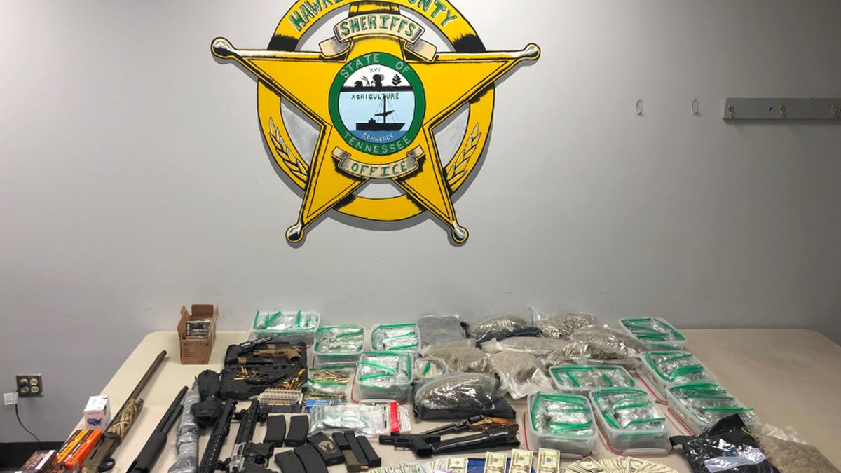 Officials estimate the marijuana seized to have a street value of $58,000.