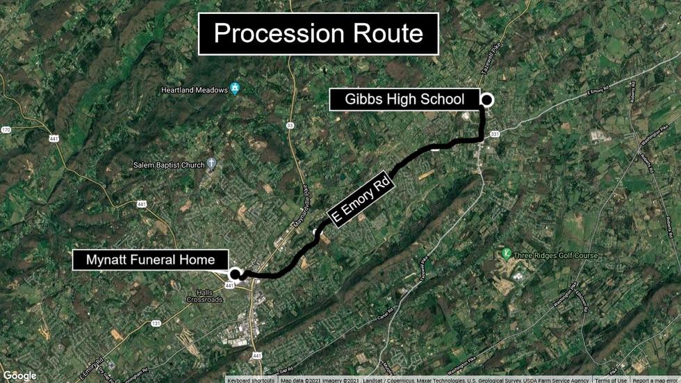Ryan Knauss procession map
