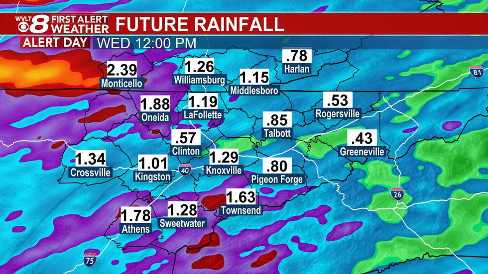 Rainfall can lead to flooding.