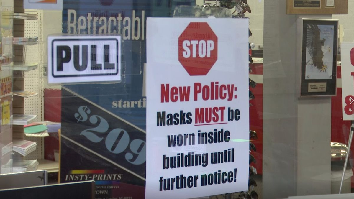 File photo: Nashville businesses must post signs that say customers and employees must wear...