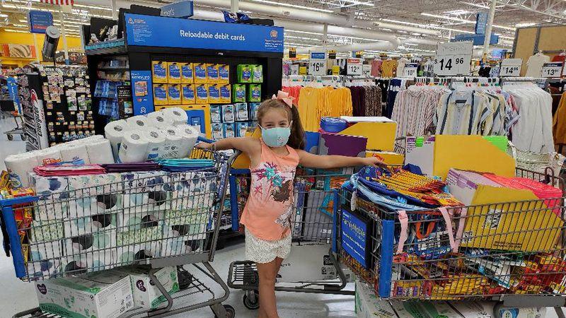 Skylar Bruneel raised more than $1000 to buy school supplies for her school in Roane County.