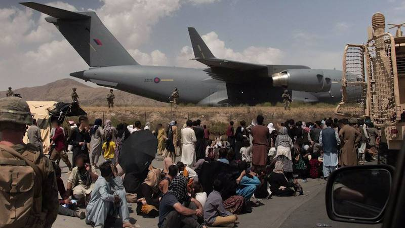 British forces continue to aid evacuations of Afghans from the Kabul airport.