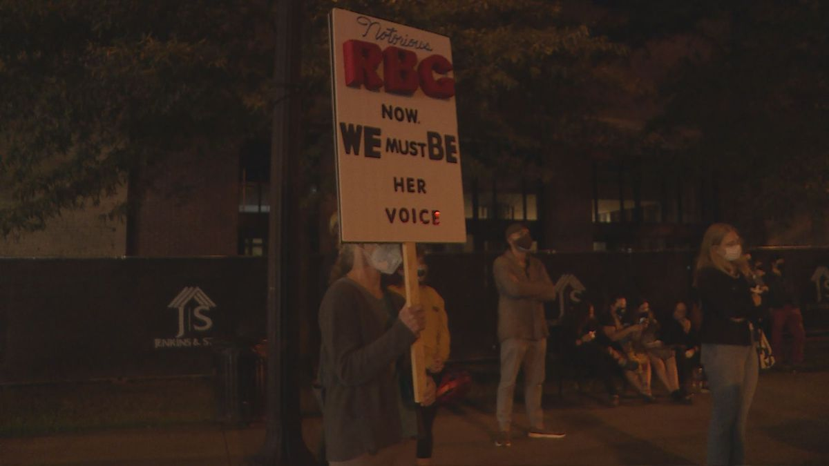 Vigil held in Knoxville for Ruth Bader Ginsburg