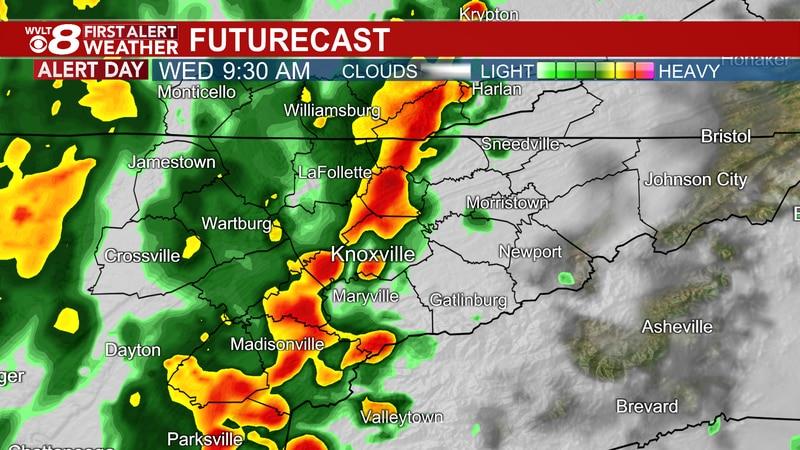 First Alert for heavy rain Wednesday