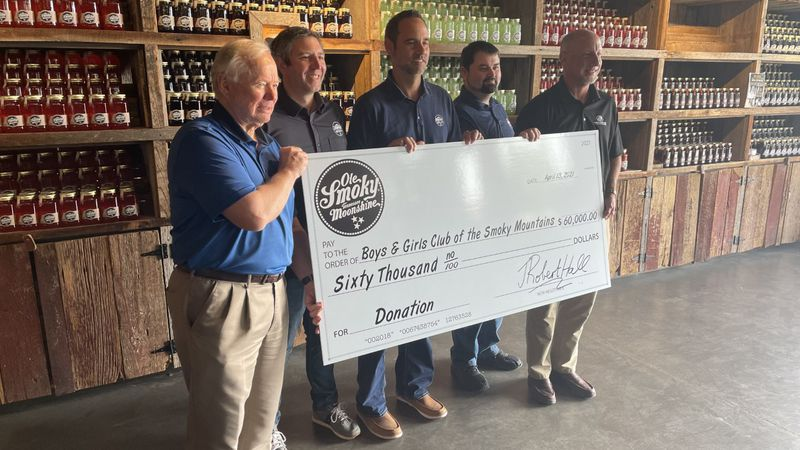 Ole Smoky Moonshine presented the Boys and Girls Club of the Smoky Mountains with $60,000 dollars