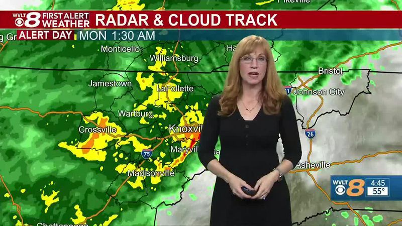 Windy, rainy early WVLT First Alert continues