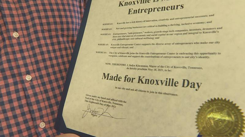 Knoxville Mayor designates May 18th as Made for Knoxville Day