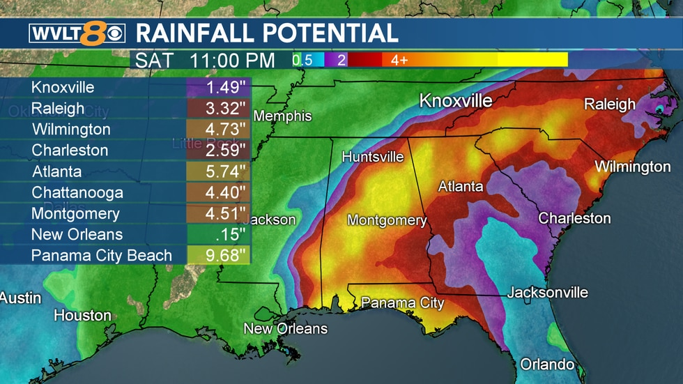 Tracking Sally and how much rain could reach us later this week.