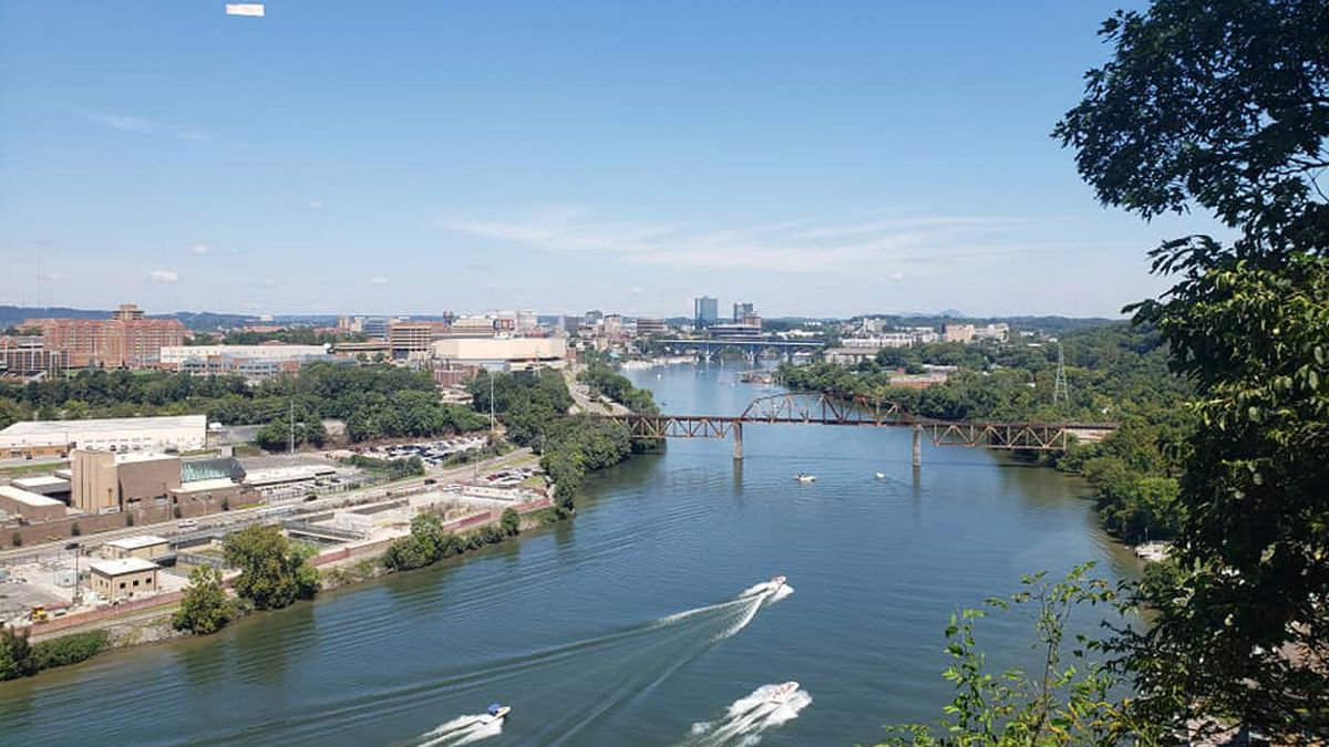 Tim  Ebert took this picture of Knoxville on Saturday.
