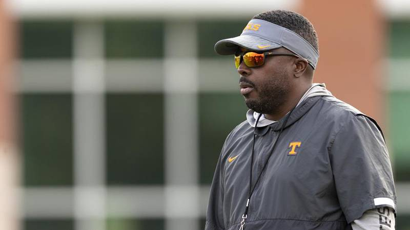 KNOXVILLE, TN - September 07, 2021 - Defensive Coordinator Coach Tim Banks of the Tennessee...